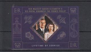 St Lucia 2011 Lifetime Of Service 1v Sheet Queen Elizabeth Ii Prince Philip photo