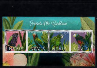 Nevis 2013 Parrots Of Caribbean 4v Sheetlet Birds Imperial Amazon St Vincent photo