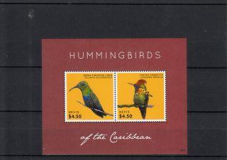 Nevis 2013 Hummingbirds Of Caribbean 2v Sheet Birds Carib Tufted Coquette photo
