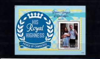 Dominica Commonwealth 2013 Birth Prince George Royal Baby 1v Ss William Kate photo