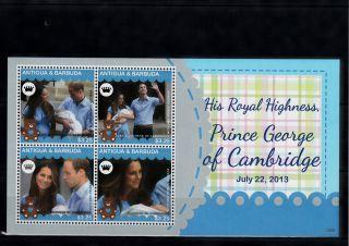 Antigua & Barbuda 2013 Birth Prince George Royal Baby 4v M/s William Kate photo