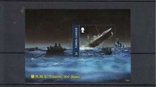 Turks & Caicos Island 2012 Rms Titanic 100 Years 1v Sheet I 100th Anniv photo