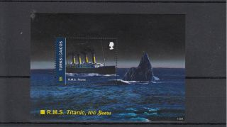 Turks & Caicos Island 2012 Rms Titanic 100 Years 1v Sheet Ii 100th Anniv photo