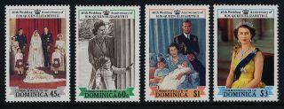 Dominica 1064 - 8 Queen Elizabeth 40th Wedding Anniversary,  Horses photo