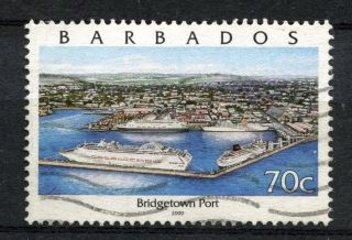 Barbados 2000 Sg 1158 70c Bridgetown Port Type I A51166 photo