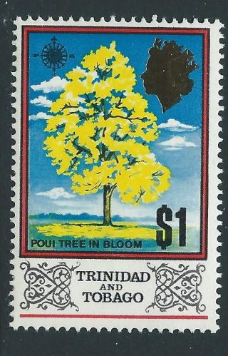 Trinidad & Tobago Sg352b 1972 $1 Glazed Ordanary Paper photo