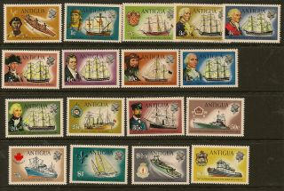 Antigua :1970 Definitives 1c - $5 Sg 269 - 85 photo