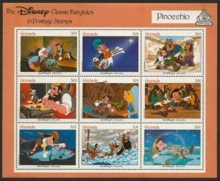 Grenada 1543 Disney,  Pinocchio photo