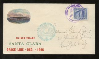 Maritime 1946 Venezuela. . .  Church Inst.  Ny. . .  Illust.  First Voyage Ship Santa Clara photo