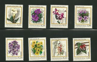 Venezuela Air & Post Flower Scott 964/66 C1049 - 52 - See Scan Cv$ 8.  5 photo
