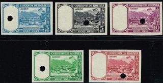 Bolivia 1942 Air Mail Stamp Specimen Full Serie Depto.  Del Beni photo