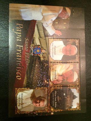 Peru Souvenir Sheet Pope Francisco photo