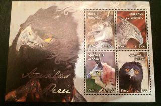 Peru Souvenir Sheet Bird Eagle photo
