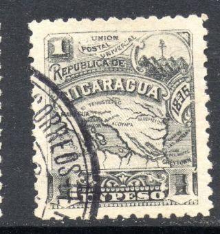 (h270) Nicaragua 1896 Seebeck 1 Peso Postally photo