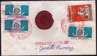 Guatemala 1976 Registered - Insured Cover,  One Wax Seal From Quezaltenango (ws111) photo