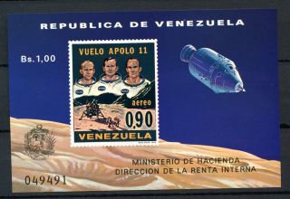 Venezuela 1969 Sg Ms2099 1st Man On The Moon M/s A60870 photo