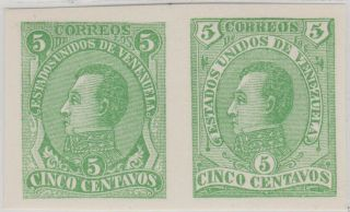 Seebeck Venezuela 1880 Essay Pair Rare photo