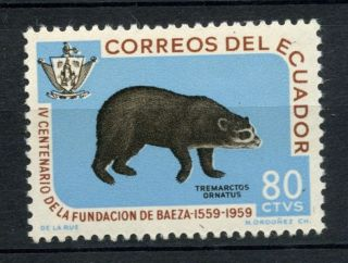 Ecuador 1960 Sg 1162 80c Spectacled Bear A69124 photo