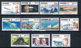 Guyana 1992 Anniversaries & Events 11v Sg 3464/74 photo