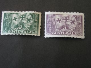 Guatemala,  Scott 260+262 (2) Total 3 1933 Day Of The Race Mh photo