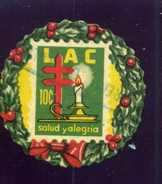 Liga Lac Candelabro - Navidades 1956 Colombia Rara photo