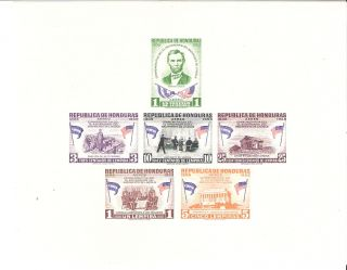Honduras 1959 Lincoln Anniversary Mini - Sheet (sc C300a) photo