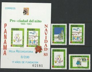 Panama 1983 Sc Ra99 - Ra102,  Note Christmas photo