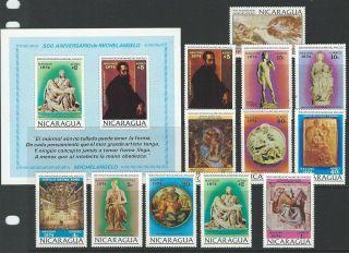 Nicaragua Sc 954 - 961,  C859 - C862,  Note Christmas photo