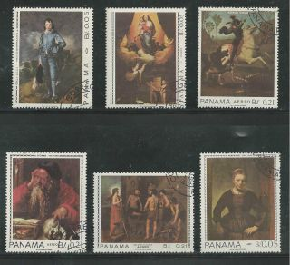 Panama 479 - 479e By Famous Artists,  Paintings photo