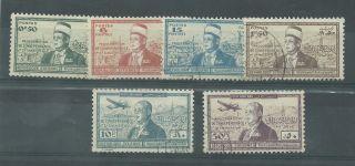 Syria - 1942 - Sg358 To Sg363 - Cv £ 30.  00 - photo