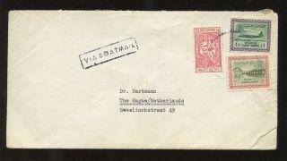 Saudi Arabia Boat Mail Boxed 1960s To Holland photo