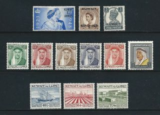 Kuwait - 12 Different Mlh - - Cat $11.  80 photo