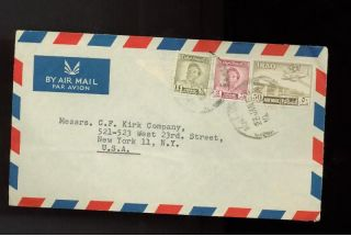 1952 Baghdad Iraq Airmail Cover To Usa photo