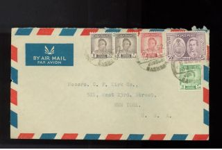 1952 Baghdad Iraq Commercial Airmail Cover To Usa photo