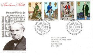 22 August 1979 Sir Rowland Hill Post Office First Day Cover London Ec Shs photo