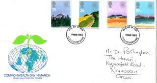 9 March 1983 Commonwealth Day Royal Mail First Day Cover Gloucestershire Fdi photo