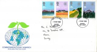 9 March 1983 Commonwealth Day Royal Mail First Day Cover Hastings E Sussex Fdi photo