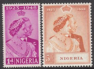 1948 Silver Wedding Nigeria Sg63 Mm Stamp photo