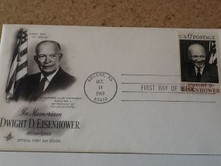 Dwight D.  Eisenhower (official First Day Cover) photo