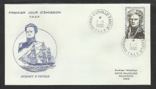 Taaf French Antarctic 1990 Bi - Centenary Dumont D ' Urville 1v Fdc photo