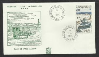 Taaf French Antarctic1985 Port Martin Base 1v Fdc photo