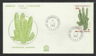 Taaf French Antarctic 1986 Lycopodium Saururus Plant 1v Fdc photo