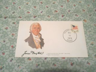 First Day Cover - Jonas Dayton 1760 - 1824,  Jersey Signer Of The Constitution photo