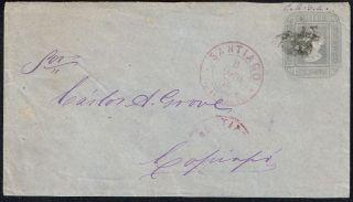 1625 Chile Ps Stationery Cover 1875 5d Santiago - Copiapo photo