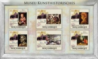 Mozambique - Classic Paintings - 6 Stamp Sheet 13a - 365 photo