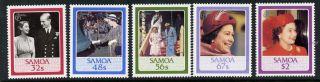 Samoa 670 - 4 Royalty,  Queen Elizabeth Ii photo
