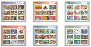 Grenada 1540 - 45,  Fairy Tales,  Six Disney Ss (cv=$25.  50) photo