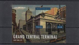 Palau 2013 Grand Central Terminal 1v S/s York City 100th Anniversary photo