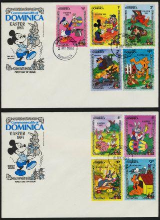 Dominica 832 - 41 Fdc ' S Disney,  Easter Eggs,  Rabbit photo