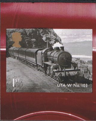Classic Locomotives N Ireland Uta Class 103 On 2013 Self Adhesive Gb Stamp photo